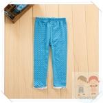 กางเกงเด็กสีฟ้าลายจุด ยกแพ็ค 5 ตัว (ราคา 95 บาท/ตัว) ขนาด 100-140