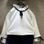 Pre-order เสื้อสไตล์เกาหลี / แพ็คละ 5 ตัว /สีขาว