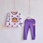 Pre-order เซทเสื้อ+กางเกง / แพ็คละ 5 ชุด /สีม่วง(สินค้าลิขสิทธิ์)