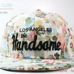 หมวกแก๊ปแฟชั่น ลาย Handsome สีขาว