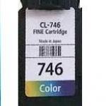 ตลับหมึกมือ 2 พร้อมใช้ Canon 746 หมึกสี ราคา 360 บาท