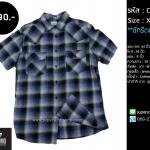 C1707 เสื้อลายสก๊อต ผู้ชาย สีเทาฟ้า Mossimo