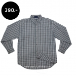 C1037 เสื้อลายสก๊อตผู้ชาย สีเทา