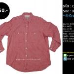 C2162 เสื้อลายสก๊อต ผู้ชาย สีแดงขาว
