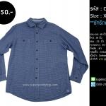 C2089 เสื้อลายสก๊อต ผู้ชาย สีฟ้า