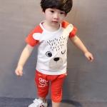ชุดเด็ก เสื้อสีขาวกางเกงสีส้ม ยกแพ็ค 4 ชุด (ราคา 175 บาท/ชุด) ขนาด S-XL