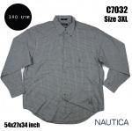 C7032 เสื้อเชิ้ตลายสก๊อต สีเทา NAUTICA