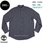 C1454 เสื้อลายสก๊อต ผู้ชาย สีเทา Timberland ไซส์ใหญ่