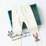 Pre-order กางเกงเลคกิ่ง / แพ็คละ 5 ตัว /สีขาว