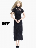22/07/2017 HotPlus HP051 Black Lace Chi-pao