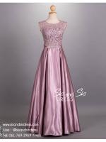 ld3018-03 ชุดราตรียาว สีม่วง ลูกไม้ซีทรู เซ็กซี่มาก กระโปรงผ้าซาตินพรีเมี่ยม สวย หรู ใส่ไปงานแต่งงาน งานบายเนียร์ งานพรหมแดง งานกาล่าดินเนอร์ หรือ ชุดพรีเวดดิ้ง เริ่ดมากค่ะ