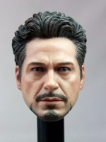 CHT-047 Head Sculpt For Hot Toys Tony Stark Custom (โทนี่ )