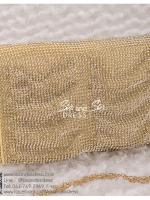 bs0015 กระเป๋าคลัช สีทอง กระเป๋าออกงานพร้อมส่ง บริกาให้เช่ากระเป๋าออกงาน เครื่องประดับออกงาน แบบสวยๆ ดูดีเหมือนดาราใช้