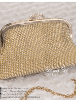 bs0012 กระเป๋าคลัช สีทอง กระเป๋าออกงานพร้อมส่ง ราคาถูกกว่าเช่า แบบสวยๆ ดูดีเหมือนดาราใช้