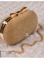 bs0003 กระเป๋าคลัช สีทอง กระเป๋าออกงานพร้อมส่ง ราคาถูกกว่าเช่า แบบสวยๆ ดูดีเหมือนดาราใช้