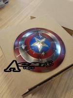 Carve Art Captain America Shield CA001C (Classic Red Battle Damage Version)