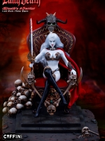 TBLeague PL2017-104A Lady Death: Death's Warrior V.2 (Action Figure with Base and Throne)
