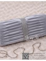 bs0001 กระเป๋าคลัช สีเทา สีเงิน กระเป๋าออกงานพร้อมส่ง ราคาถูกกว่าเช่า แบบสวยๆ ดูดีเหมือนดาราใช้