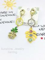 Sunshine Jewelry ต่างหู เครื่องประดับผู้หญิง ดีไซน์เกาหลี ใส่ออกงานก็ดูแพงเรียบหรู คลาสสิค ใส่ทำงานก็ดูเก๋ สวย น่ารัก ชุบด้วยทองคำขาว เกรดพรีเมียม สำเนา