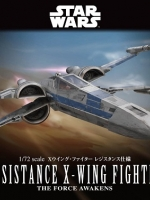 BANDAI STAR WAR 1/72 RESISTANCE X-WING FIGHTER