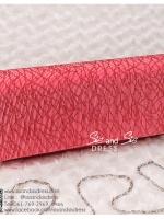 bs0008 กระเป๋าคลัช สีแดง กระเป๋าออกงานพร้อมส่ง ราคาถูกกว่าเช่า แบบสวยๆ ดูดีเหมือนดาราใช้