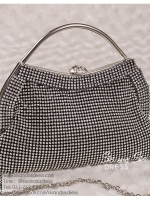 bs0016 กระเป๋าคลัช สีดำ กระเป๋าออกงานพร้อมส่ง ราคาถูกกว่าเช่า แบบสวยๆ ดูดีเหมือนดาราใช้