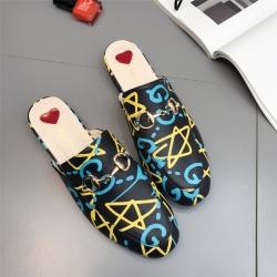 [มี2สี] รองเท้าคัทชูแฟชั่น หนังpu นิ่ม เปิดส้น สวย ใส่สบาย ส้นสูงประมาณ 1 นิ้ว