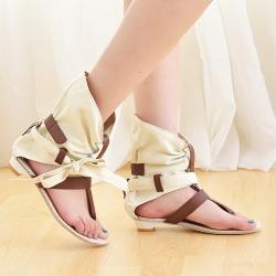 [มี2สี] รองเท้าแตะคีบ ทรงหุ้มข้อ แฟชั่นหน้าร้อน ฟชั่นหนัง pu ส้นเตี้ย ทรงสวย ใส่สบาย