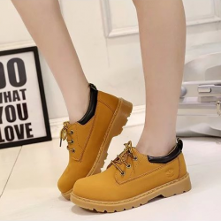 [มี2สี] รองเท้าบูทผู้หญิงเท่ๆ รุ่นไม่หุ้มข้อ แฟชั่นหนังแท้ ผสมหนัง pu สไตล์คาวบอย