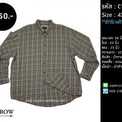 C1076 เสื้อเชิ้ตลายสก๊อต Arrow ไซส์ใหญ่