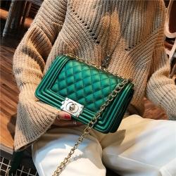 [มีหลายสี] กระเป๋าสะพายข้าง แฟชั่นหนัง pu ทรงสี่เหลี่ยม สวยหรูดูแพง
