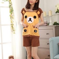 ชุดนอนเสื้อกล้าม ลายหมีริลัคคุมะ