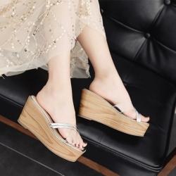 [มี2สี] รองเท้าส้นเตารีด หัวปลา ทรงสวม หน้าไขว้พลาสติกใส สลับหนังpu ส้นสูง 3 นิ้ว