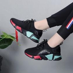 รองเท้าผ้าใบแฟชั่นเกาหลี ตาข่าย พื้นนิ่ม ทรงสปอร์ต