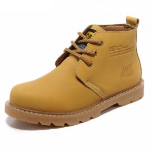 [มี2สี] รองเท้าหนัง CAT-CATERPILLAR รองเท้าเดินป่า หนังแท้ หุ้มข้อ พื้นยางนุ่มๆ สินค้างาน AAA+