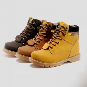 [มีหลายสี] รองเท้าหนัง CAT-CATERPILLAR รองเท้าเดินป่า หนังแท้ หุ้มข้อ พื้นยางนุ่มๆ สินค้างาน AAA+