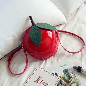 [มี2สี] กระเป๋าสะพาย รูปแอปเปิ้ล แฟชั่นหนัง pu ดีไซน์สวย เก๋ สไตล์เกาหลี