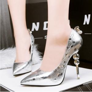 [มีหลายสี] รองเท้าหัวแหลม ส้นสูง(ส้นเข็ม) ใส่ออกงาน ทรงเรียบๆ สวยสุภาพ วัสดุหนังแท้ ส้นสูง 4 นิ้ว