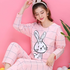 ชุดนอนแขนยาวลายกระต่าย