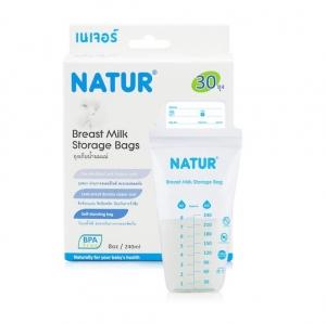 ถุงเก็บน้ำนมแม่ ยี่ห้อ Natur รุ่น BPA Free แพ็ค 30 ถุง/กล่อง