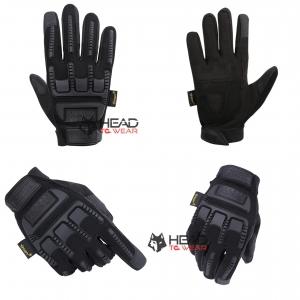 ถุงมือขี่บิ๊กไบค์ Bigbike เต็มนิ้ว : สีดำ Black รหัส GT024
