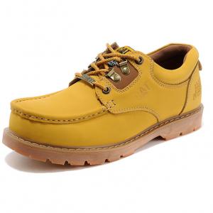 [มีหลายสี] รองเท้าหนัง CAT-CATERPILLAR รองเท้าเดินป่า แบบหุ้มส้น สไตล์คาวบอย หนังแท้ พื้นยางนุ่มๆ ค่ะ