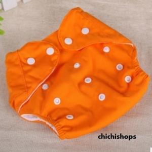 ผ้าอ้อม Set A สีส้ม