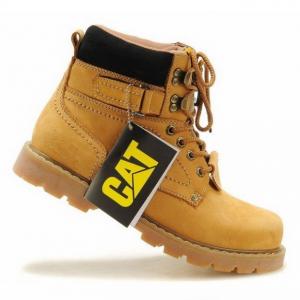 [มีหลายสี] รองเท้าบูท CAT-CATERPILLAR รองเท้าเดินป่า หนังแท้ หุ้มข้อ พื้นยางนุ่มๆ สินค้างาน AAA+