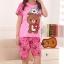 ชุดนอนแขนสั้นลายหมีริลัคคุมะสีชมพู thumbnail 1