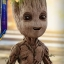 Hot Toys LMS004 GUARDIANS OF THE GALAXY VOL. 2 - GROOT (LIFE-SIZE) thumbnail 17