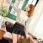 K703 *หมดค่ะ* * เสื้อสีขาวลายจุดดำ ผ้าcotton+ซาติน เนื้อผ้าลื่น thumbnail 1