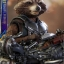 Hot Toys MMS411 GUARDIANS OF THE GALAXY VOL.2 - ROCKET (DELUXE VERSION) thumbnail 5