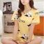 ชุดนอนน่ารักแขนสั้นลายวัว milk สีเหลือง thumbnail 1