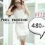 C164 Dress สีขาวสวยมากค่ะ งานลูกไม้ปักหมุดด้านหน้าทั้งตัว Set 2 ชิ้นมีซับให้ด้วยค่ะ thumbnail 1